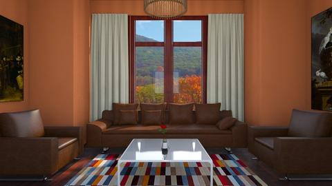 Baywindow Room - Living room - by josielz