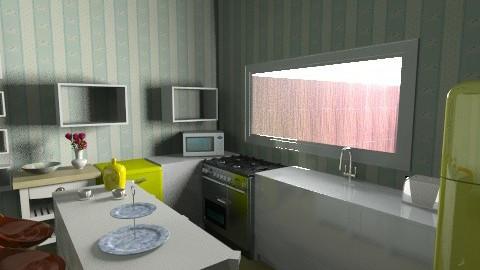 1940s Modern Kitchen 2 - Retro - Kitchen - by tillla01