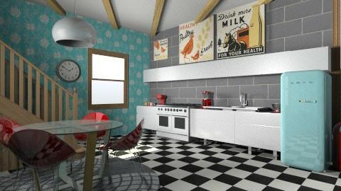 Retro - Retro - Kitchen - by NatalieH