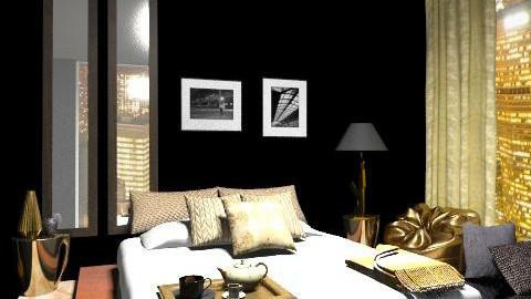 Black&Gold - Eclectic - Bedroom - by Gubacsi Judit
