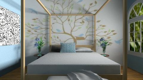 blue bedroom - Vintage - Bedroom - by dancergirl1243
