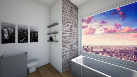 City view bathroom - Vintage - Bathroom - by bellastinks