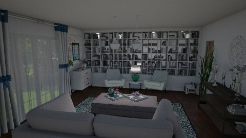 Living room Book lover - Living room - by Tennessee