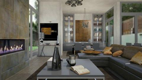 Concrete Living - Living room - by Ernest Mistiaen