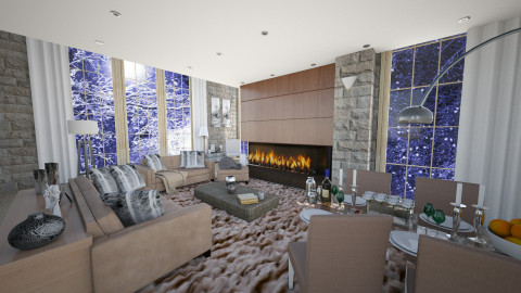 Winter Mood2 - Living room - by Chrysa Karatzia