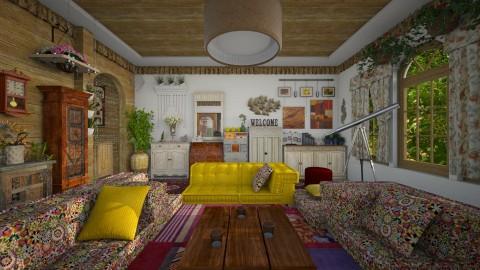 Granny's house - Country - Living room - by thefairysknight