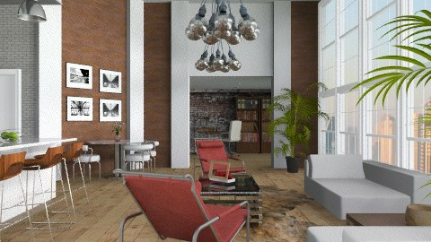 Metallic apt - Modern - Living room - by liling