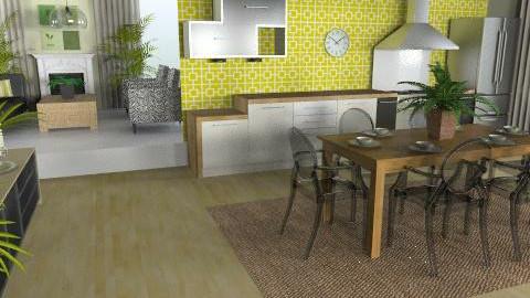 green kitchen - Classic - Kitchen - by Rechoppy92