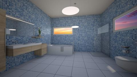 Blue - Classic - Bathroom - by Twerka