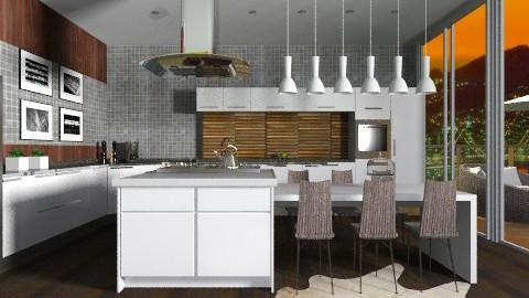 Family Modern Kitchen - Modern - Kitchen - by sahfs
