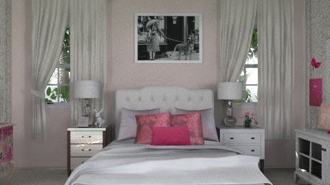 pink room - Glamour - Bedroom - by sarahl