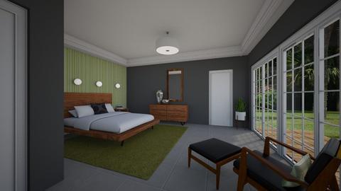 Mid Century Mod BR - Bedroom - by Daisy de Arias