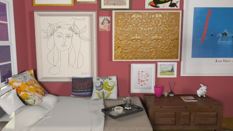 Art - Eclectic - Bedroom - by monikica