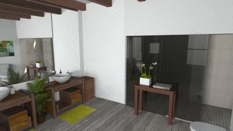 dark wood bathroom - Bathroom - by rosiedoll