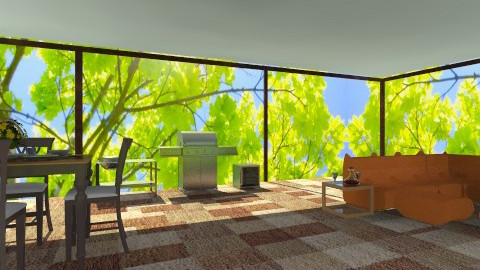 New patio - Modern - Garden - by wiljun