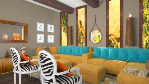 LRR - Rustic - Living room - by mire roig