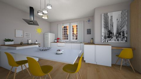 nyc - Kitchen - by areejkwaik