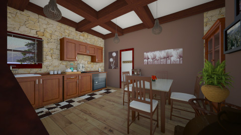 mountain  - Rustic - Kitchen - by Angela Quintieri