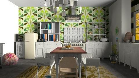 Family kitchen - Vintage - Kitchen - by mrschicken