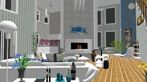 Center Fireplace - Modern - Living room - by macy486