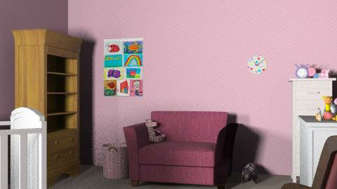 baby room - Feminine - Kids room - by Taffy DeJarnette