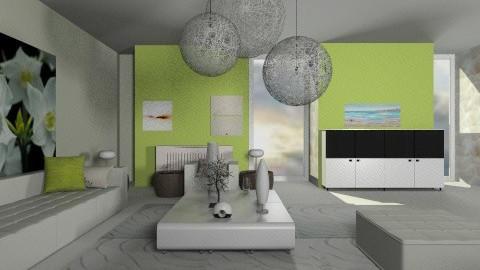 lime living room - Eclectic - Living room - by Designerloft