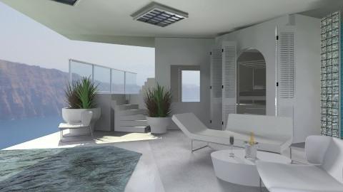Clinical Greek terrace - Minimal - Garden - by deleted_1520806422_Roxy