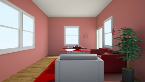 red - Modern - Living room - by Dorotea Tea Grkovik