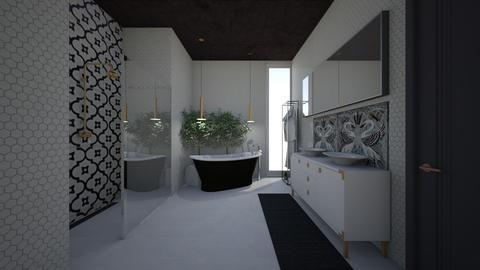 swan bathroom - Bathroom - by stephanie delios