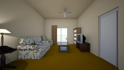 Medium Studio Apartment - Living room - by WestVirginiaRebel