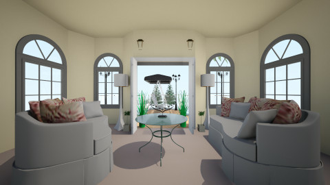 Evening Sunday - Living room - by MiuSks