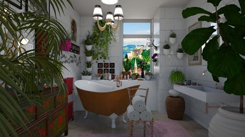 Tranquil corner - Bathroom - by The quiet designer
