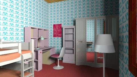 nurin bedroom - Bedroom - by barly