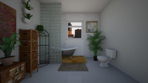 bohemian bathroom - Bathroom - by mmBailey