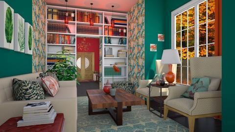 LIBRARY LIVING ROOM - Living room - by zsjv1989gmailcom