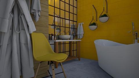 Bath yellow - Bathroom - by Tuija