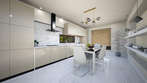 light crem kitchen 1 - Glamour - Kitchen - by Bianca Interior Design