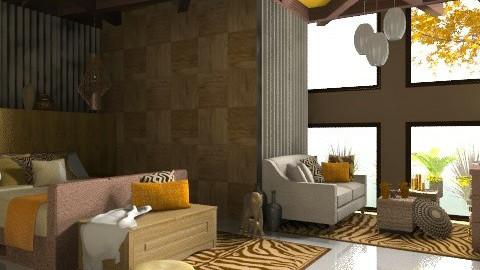 gone to africa - Bedroom - by dominicjames