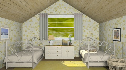 Grandma's little guest room - Country - Bedroom - by alleypea