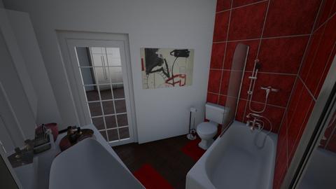 rojo bath - Bathroom - by M155Vae