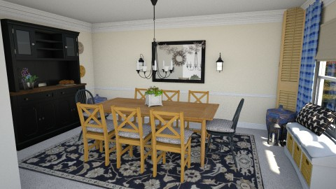 Dining Area 3b - Country - Dining room - by heyjoshday