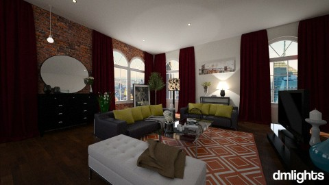 NYC Studio Living - Living room - by DMLights-user-1564420