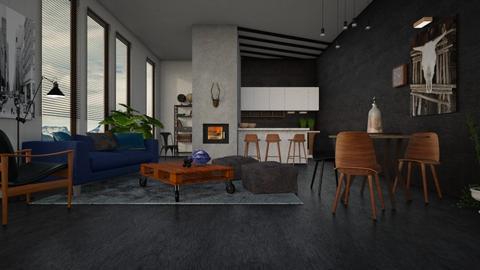 Velvet blue  - Living room - by Liu Kovac