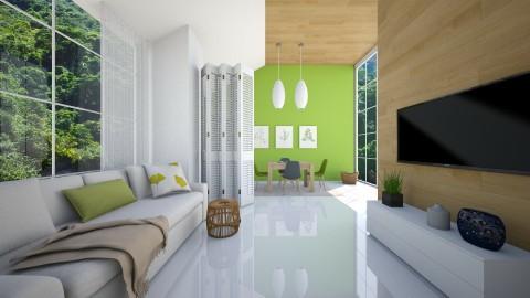 Pantone Greenery - Classic - Living room - by Valeska Stieg