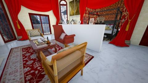 The Queens Domain - Vintage - Bedroom - by LouinnaCross18
