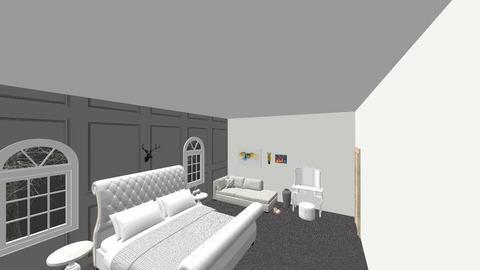 bedroom grey decor - Bedroom - by BLOBy2