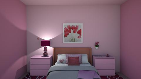 Pink - Bedroom - by Princapessa10