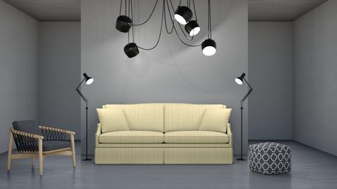 Hint of Yellow - Modern - Living room - by millerfam