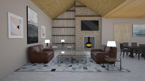 Aspen Chalet Template - Living room - by The cartoon fan