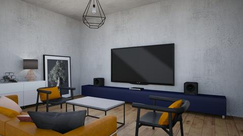 Concrete Living Room - by littlewhitedesign